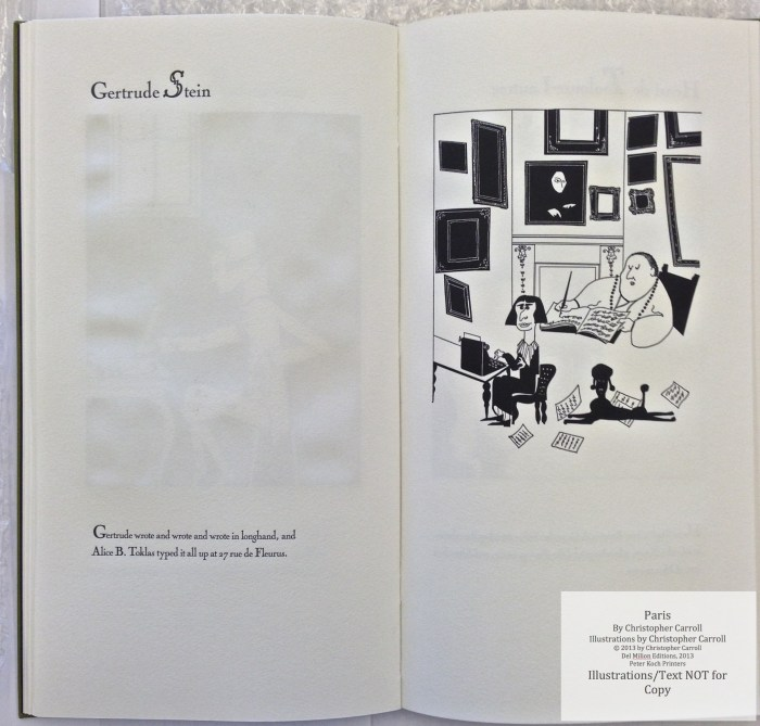 Paris, Peter Koch Printers, Sample Illustration #6 with text