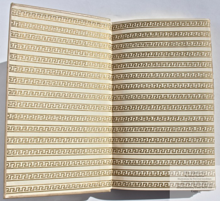 The Golden Ass, Limited Editions Club, End Papers
