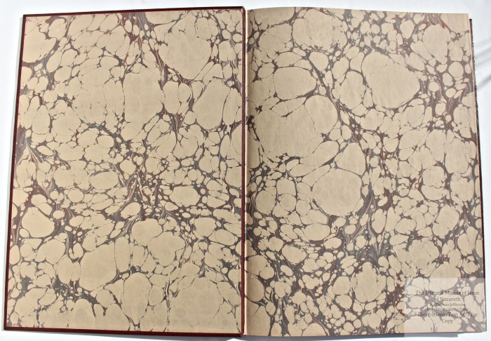 The Life and Morals of Jesus of Nazareth, The Ascensius Press, Marbled Endpapers