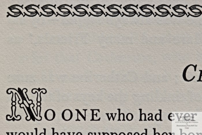 Northanger Abbey, Limited Editions Club, Macro of Sample Text #2