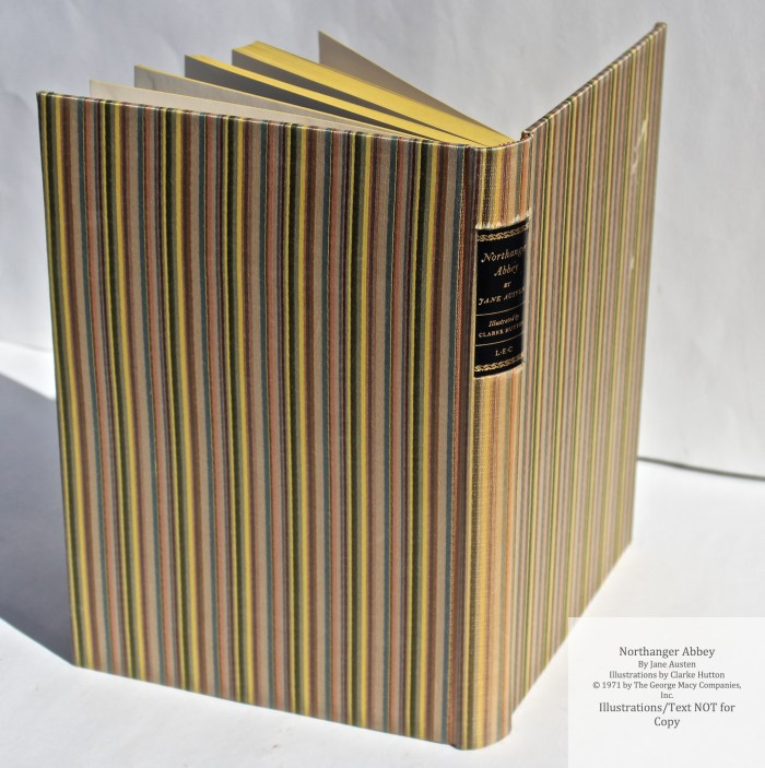 Northanger Abbey, Limited Editions Club, Spine and Cover