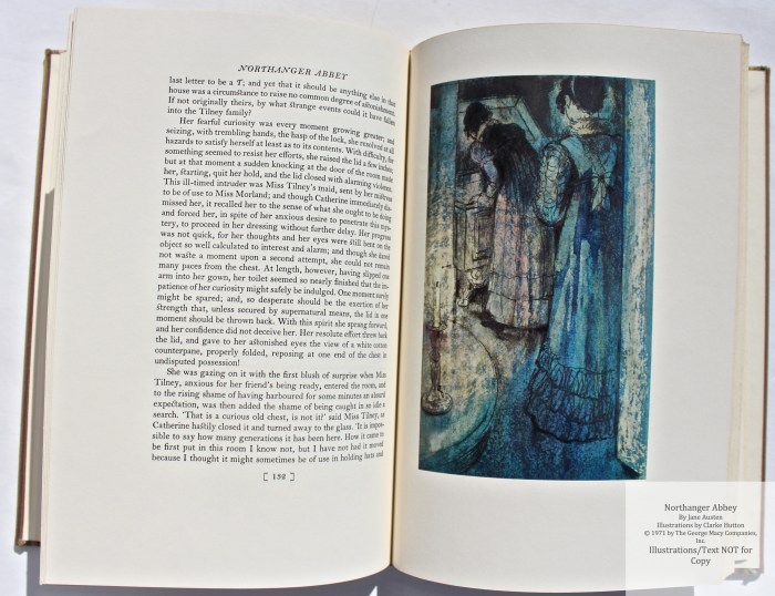 Northanger Abbey, Limited Editions Club, Sample Illustration #7 with Text