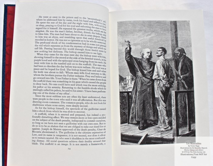 Les Miserables, The Folio Society LE, Sample Illustration #1