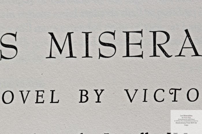 Les Miserables, Limited Editions Club, Macro of Title Page of Volume One