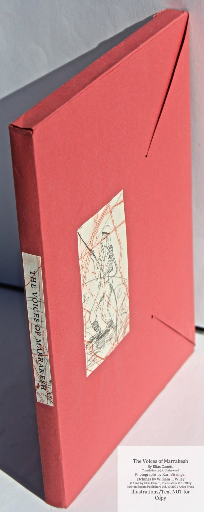 The Voices of Marrakesh, Arion Press, Envelope Slipcase Side View
