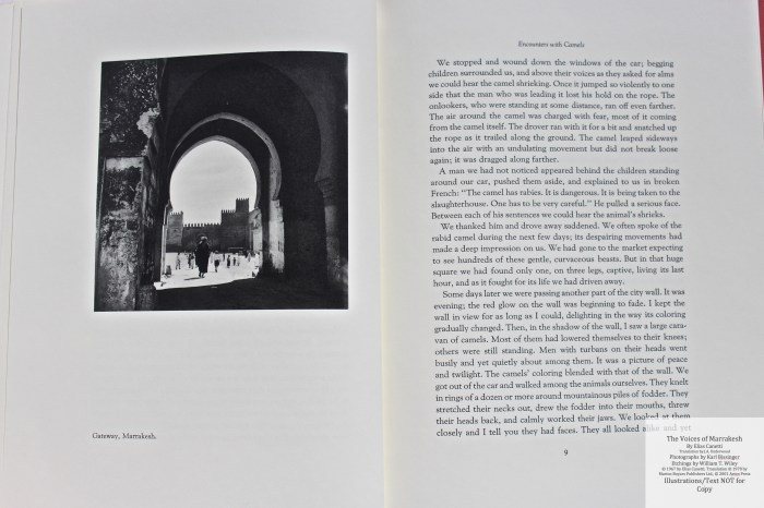 The Voices of Marrakesh, Arion Press, Sample Photograph #1 with Text