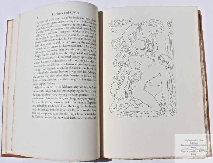 Daphnis and Chloe, Limited Editions Club, Sample Illustration #1 with text