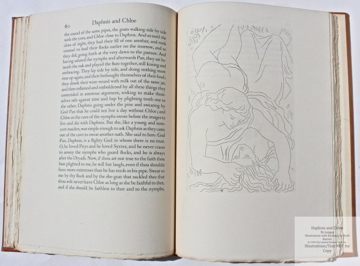 Daphnis and Chloe, Limited Editions Club, Sample Illustration #3 with text