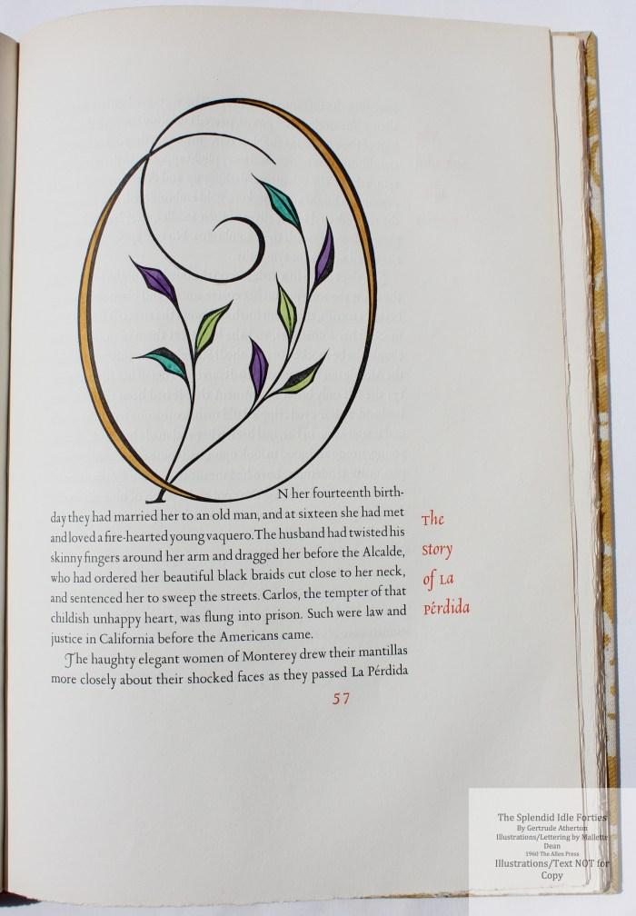 Splendid Idle Forties, Allen Press, Sample Page #4