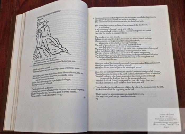 Leaves of Grass, Random House/Grabhorn, Sample Text