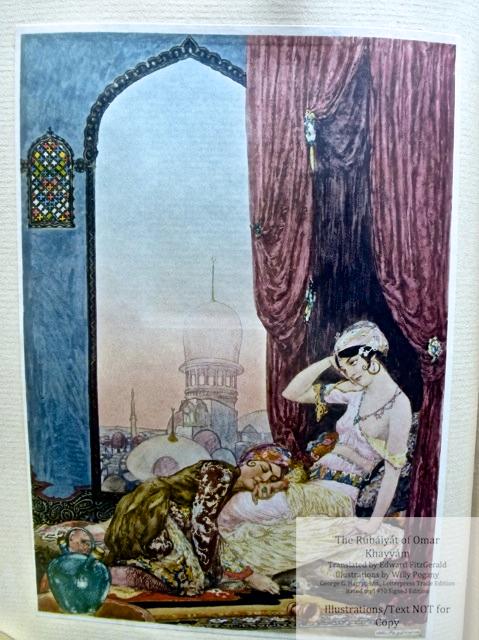 "The Rubáiyát of Omar Khayyám, George G. Harrap & Co Ltd., Sample Illustration #1 - ""Awake, my little ones."""