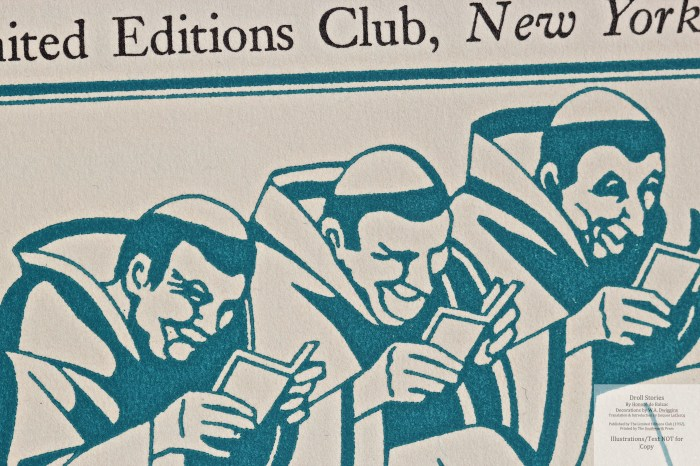 Droll Stories, Limited Editions Club, Macro of Title Page (vol 3)