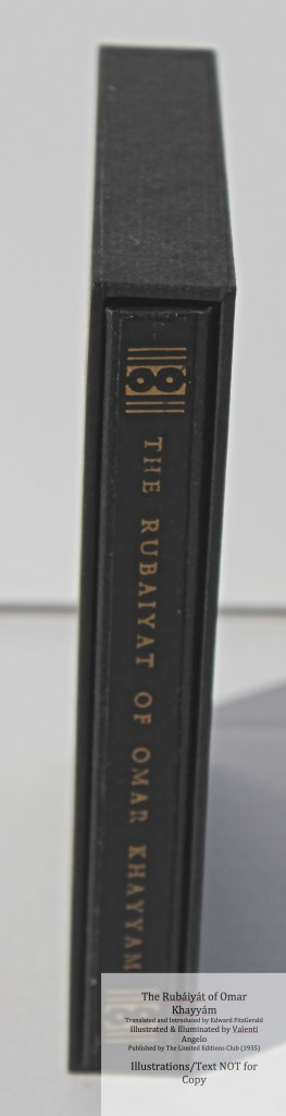 The Rubáiyát of Omar Khayyám, Limited Editions Club, Chemise