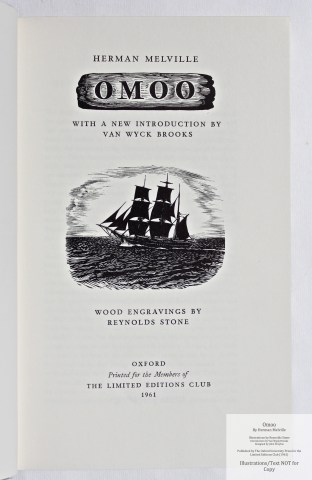 Omoo, Limited Editions Club, Title Page