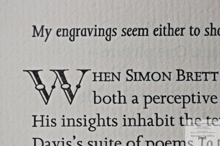 Simon Brett, an Engraver's Progress, Macro of Sample Text #1 (Foreword)