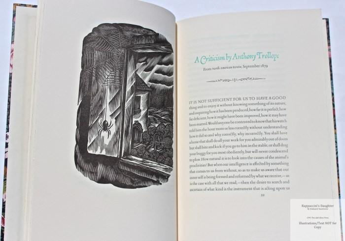 Rappaccini's Daughter, Allen Press, Sample Illustration #1 with Text