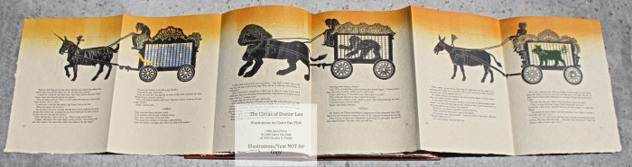 The Circus of Doctor Lao, Janus Press, Sample Illustrations #3 with text (fold out)