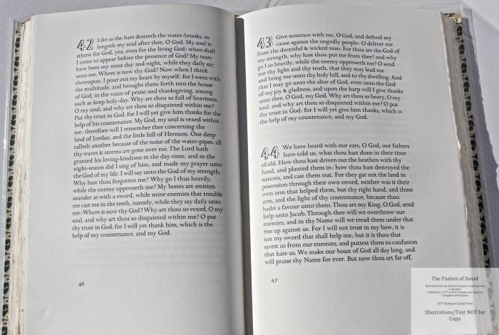 The Psalms of David, Rampant Lions Press, Sample Text #3