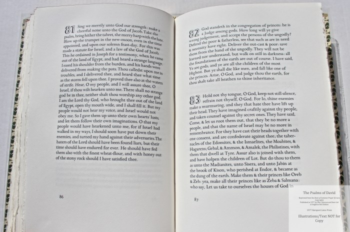 The Psalms of David, Rampant Lions Press, Sample Text #4