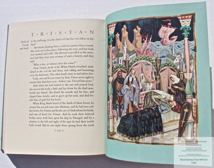 The Romance of Tristan and Iseult, Limited Editions Club, Sample Illustration #5 with Text