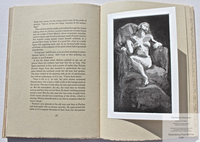 The Unknown Masterpiece, Rampant Lions Press, Sample Illustration #2 with Text