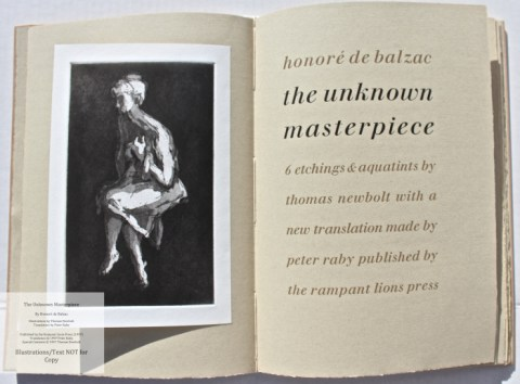 The Unknown Masterpiece, Rampant Lions Press, Frontispiece and Title Page