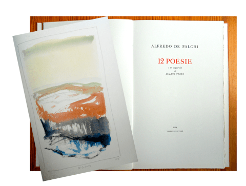 12 Poems, Title Page and Sample Watercolor