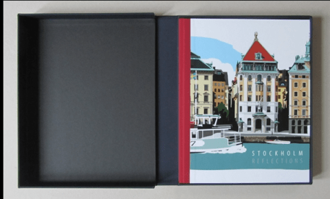 Stockholm Reflections, Book in Solander
