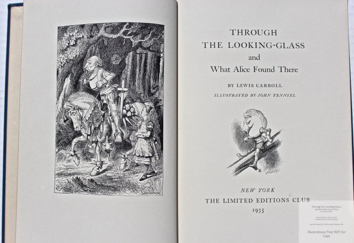 Through the Looking Glass, Limited Editions Club, Frontispiece and Title Page