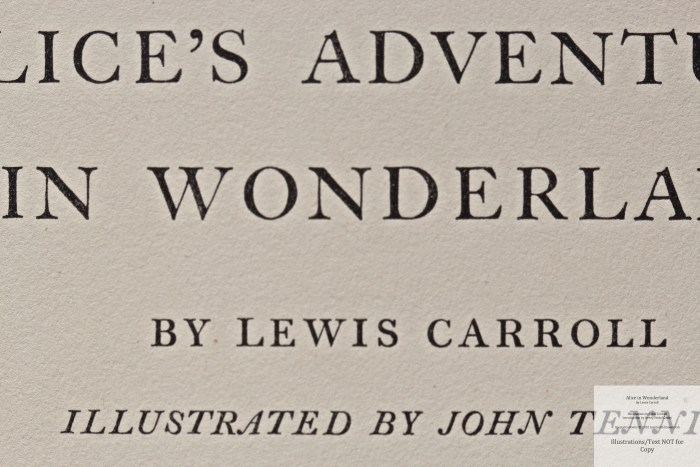 Alice in Wonderland and Through the Looking Glass, Limited Editions Club, Macro of Title Page