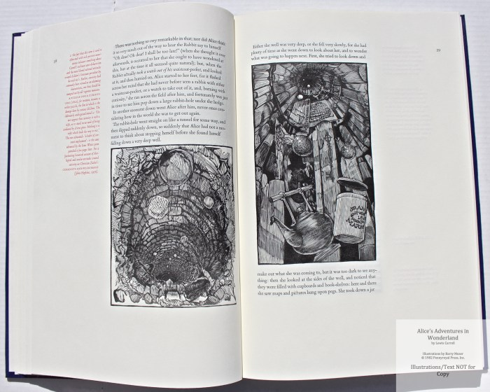 Alice's Adventures in Wonderland, Pennyroyal Press, Sample Illustrations #6 with Text