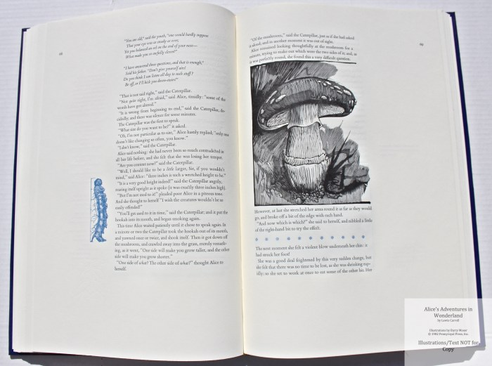 Alice's Adventures in Wonderland, Pennyroyal Press, Sample Illustration #11 with Text