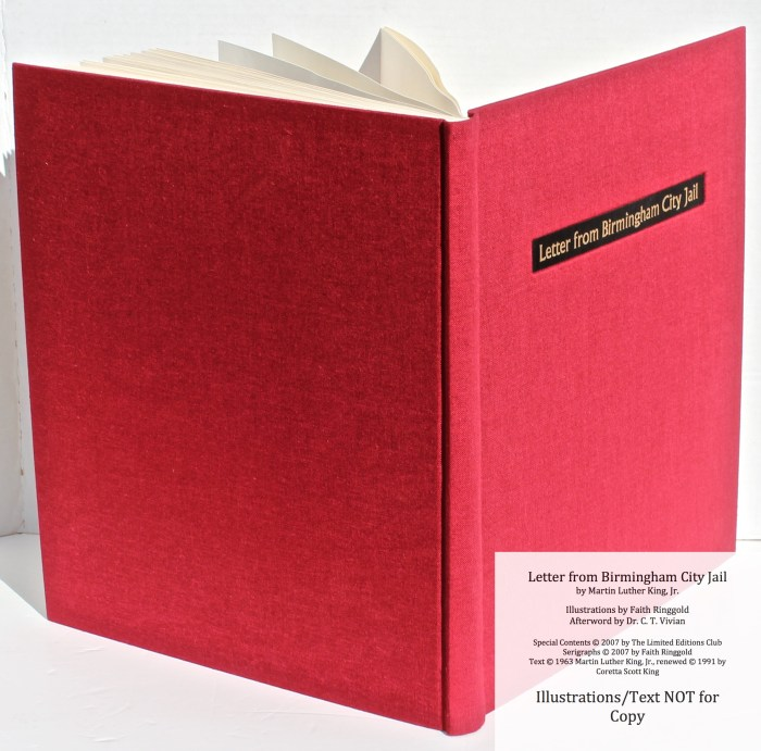 Letter from Birmingham Jail, Limited Editions Club, Spine and Covers