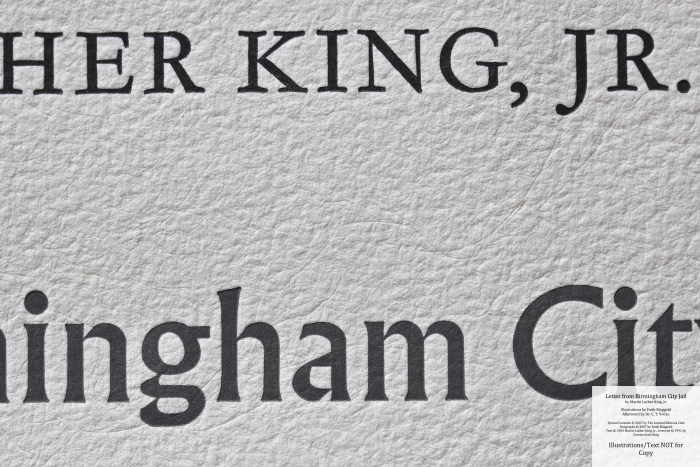 Letter from Birmingham Jail, Limited Editions Club, Macro of Title Page
