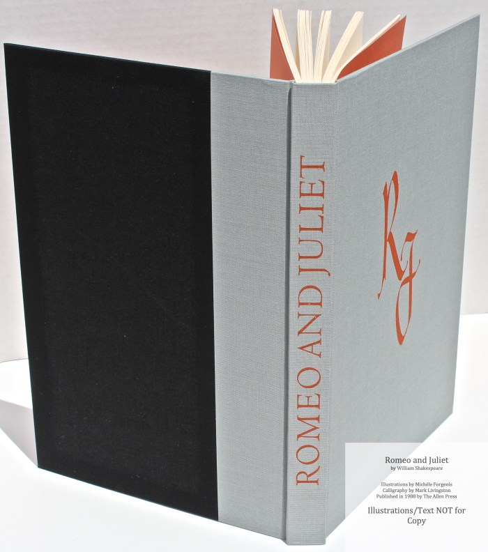 Romeo and Juliet, Allen Press, Spine and Covers