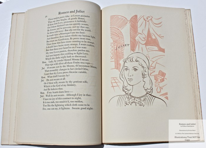 Romeo and Juliet, Allen Press, Sample Illustration #2 (Juliet) with Text