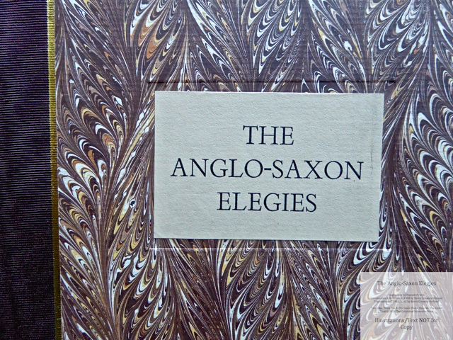 The Anglo-Saxon Elegies, The Folio Society, Macro of Cover
