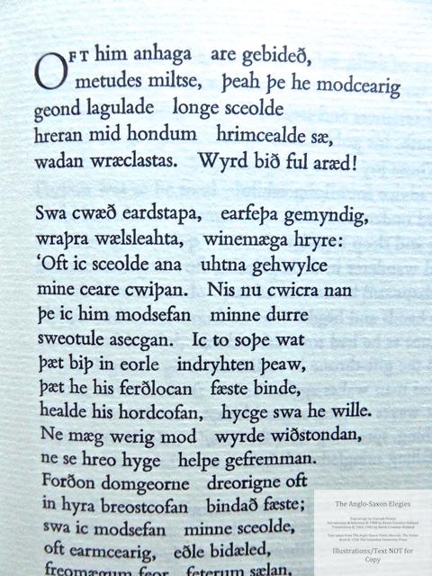 The Anglo-Saxon Elegies, The Folio Society, Sample Text #3