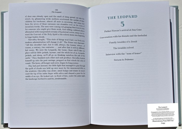 The Leopard, Arion Press, Sample Text #5