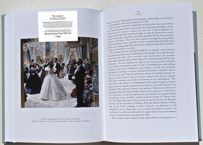 The Leopard, Arion Press, Sample Photograph #8 with Text
