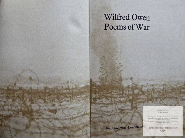 Poems of War, The Folio Society, Title Page