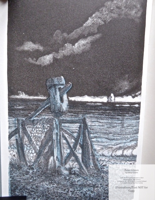 Peter Grimes, The Folio Society, Sample Illustration #1 (Frontispiece)