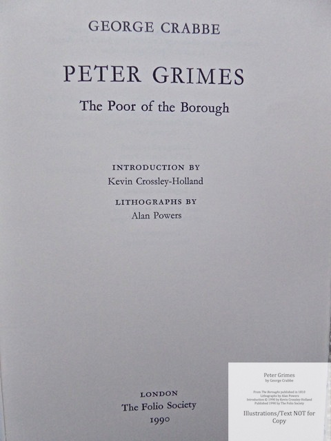 Peter Grimes, The Folio Society, Title Page