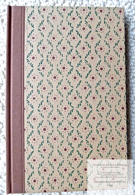 The Greek Anthology, The Folio Society, Front Cover