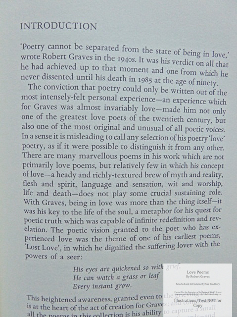 Love Poems by Robert Graves, The Folio Society, Sample Text #1
