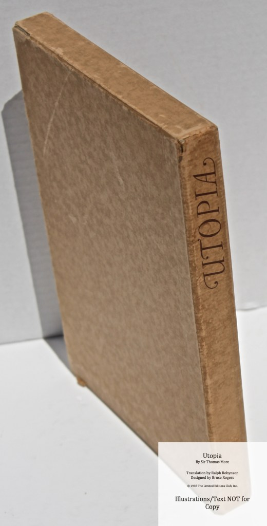 Utopia, Limited Editions Club, Slipcase Spine