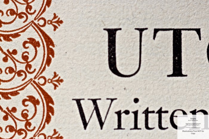 Utopia, Limited Editions Club, Macro of Title Page