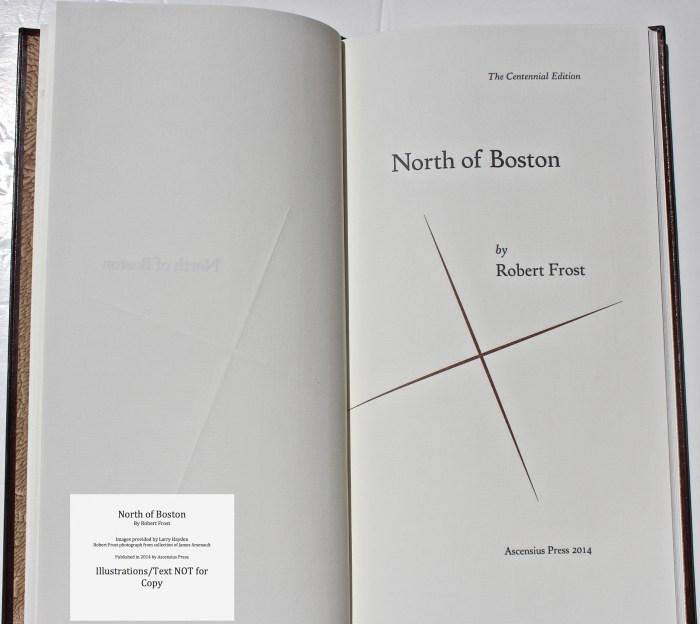 North of Boston, Ascensius Press , Title Page