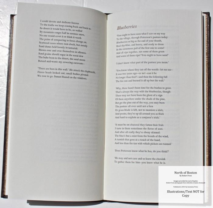North of Boston, Ascensius Press , Sample Text #4