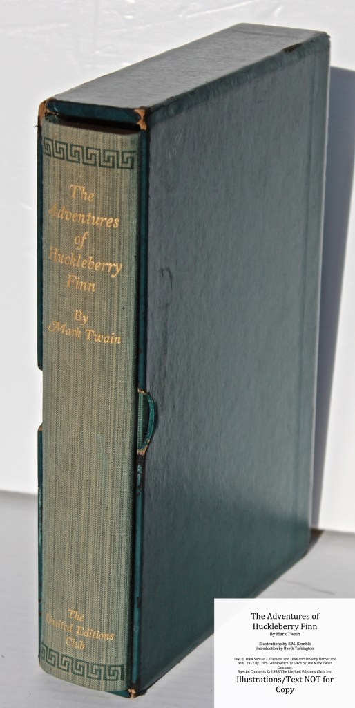 The Adventures of Huckleberry Finn, Limited Editions Club (1933), Original Spine and Slipcase